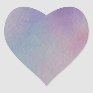 Customize Personalize Pastel Watercolor Abstract Heart Sticker