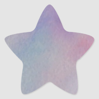 Customize Personalize Pastel Watercolor Abstract Star Sticker