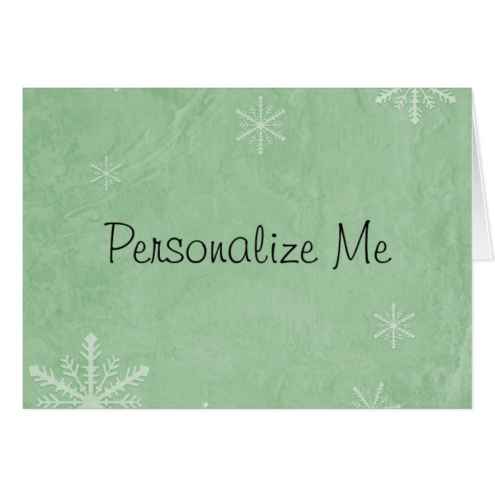 CUSTOMIZE PERSONALIZE Snowflake Paper 3 - Green Card
