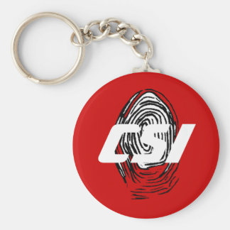 Customize Personalize These Fingerprint Gift Gifts Basic Round Button Keychain