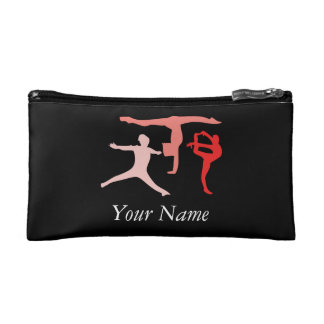 Customize Personalized Trio Gymnastics Travel Makeup Bag