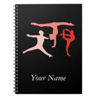 Customize Personalized Trio Gymnastics Travel Spiral Notebook