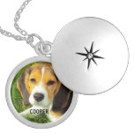Customize Pet Dog Photo Silver Plated Necklace at Zazzle
