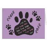 Customize Photo - CLASS of 2012 PAWS - Graduation Greeting Card