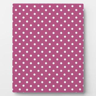 Customize Pink Polka Dot Plaque