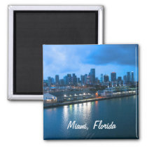 Customize Port of Miami photo Magnet