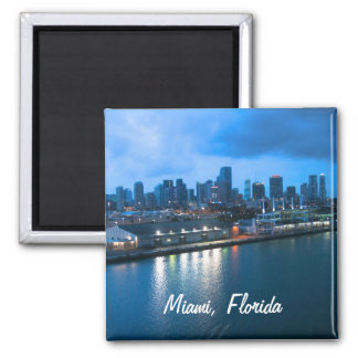 Customize Port of Miami photo 2 Inch Square Magnet