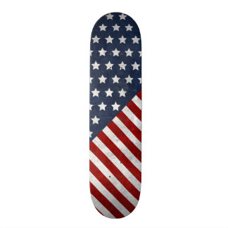 Customize Prodawesome USA flag grunge stars Skateboard Deck