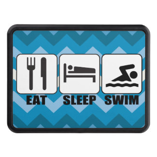 Customize ProdEat Sleep Swim Gear Tow Hitch Cover