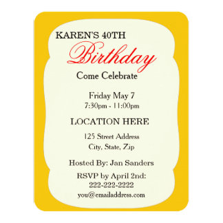 Customize Product 4.25x5.5 Paper Invitation Card