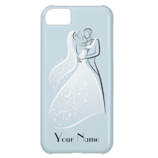 Customize Product Blue Retro Wedding Dancers Coord iPhone 5C Cover