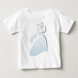 Customize Product Blue Retro Wedding Dancers Coord Shirt