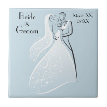 Customize Product Blue Retro Wedding Dancers Coord Tile