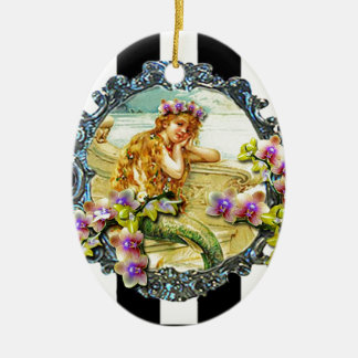 Customize Product Double-Sided Oval Ceramic Christmas Ornament