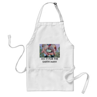Customize Product fossil in girl hands Adult Apron
