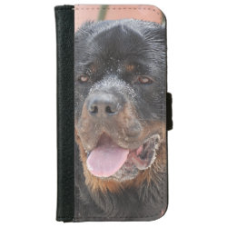 iPhone 6 Wallet Case with Rottweiler Phone Cases design