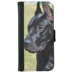 iPhone 6 Wallet Case with Great Dane Phone Cases design