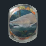 "Customize Product Jelly Belly Candy Jar<br><div class=""desc"">Great white shark showing off his very sharp teeth.</div>"