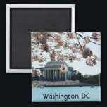 """Customize Product Magnet<br><div class=""""desc"""">Jefferson Memorial with blooming cherry blossoms in the foreground.</div>"""