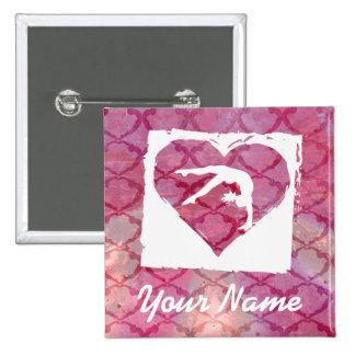 Customize Product Personalized Gymnastics Dance Pinback Button