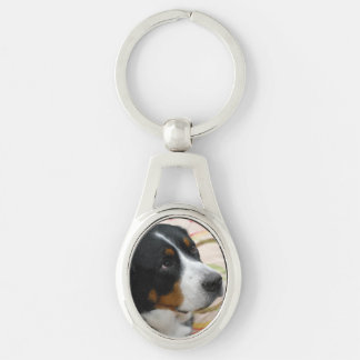 Customize Product Silver-Colored Oval Metal Keychain