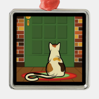 Customize Product Square Metal Christmas Ornament