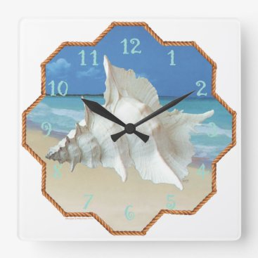 Beach Themed Customize Product Square Wall Clock