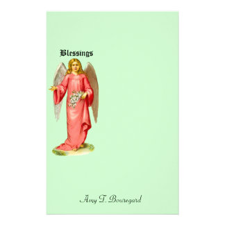 Customize Product - Victorian Angel Blessings Stationery