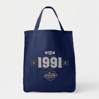 Customize ProductBorn in 1991 (Light&Darkgrey) Tote Bag