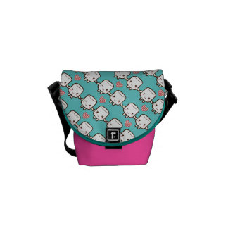 Customize ProductCute Marshmallow couple Messenger Bag