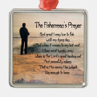 Customize ProductThe Fishermans Prayer Square Metal Christmas Ornament