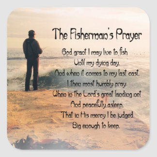 Customize ProductThe Fishermans Prayer Square Sticker