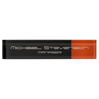 Customize Professional Modern Desk Nameplate