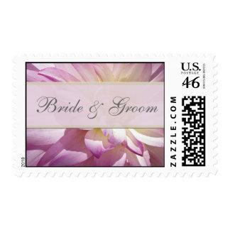 Customize purple bride groom stamps