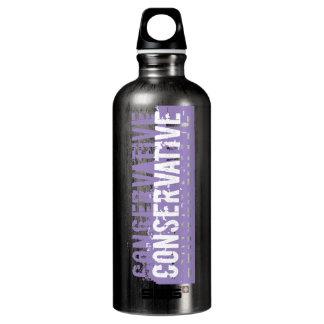 Customize - Purple Grunge Conservative Aluminum Water Bottle