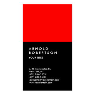 Customize Red Black Professional Business Card