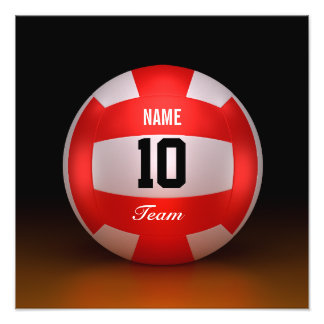 Customize Red Volleyball Photo Print