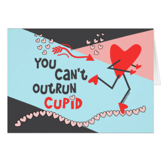 Customize Runner's Valentine - Can't Outrun Cupid Greeting Card