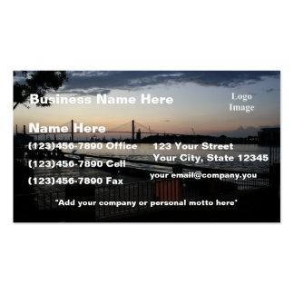 (Customize) Savannah River on River Street Photo Business Card