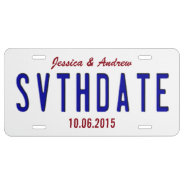 Customize Save The Date License Plate at Zazzle
