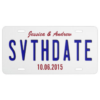 Customize Save The Date License Plate