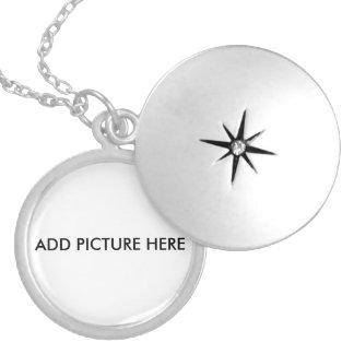 Customize Silver Plated With your Picture Round Locket Necklace