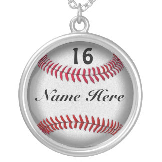 Customize Softball Necklace with NUMBER and NAME