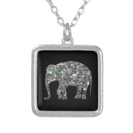 Customize Sparkly colourful silver mosaic Elephant Custom Jewelry