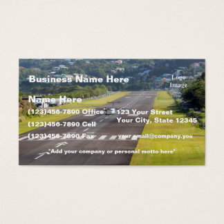 (Customize) St. Lucia Plane and Airstrip photo Business Card