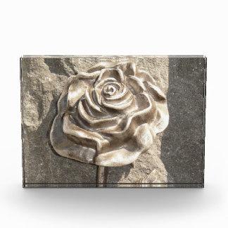 Customize Stone Rose Acrylic Award