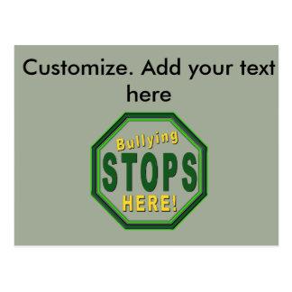 Customize Stop Bullying NOw Postcard