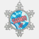 CUSTOMIZE - Swimmer Monogram Ornaments