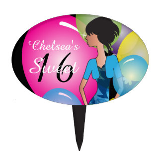 Customize Template for a Birthday or Bachelorette Cake Toppers