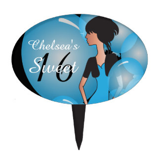 Customize Template for a Birthday or Bachelorette Cake Topper